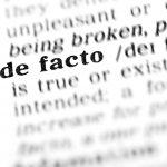 Defining De Facto